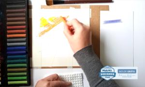 Desenho com giz pastel seco